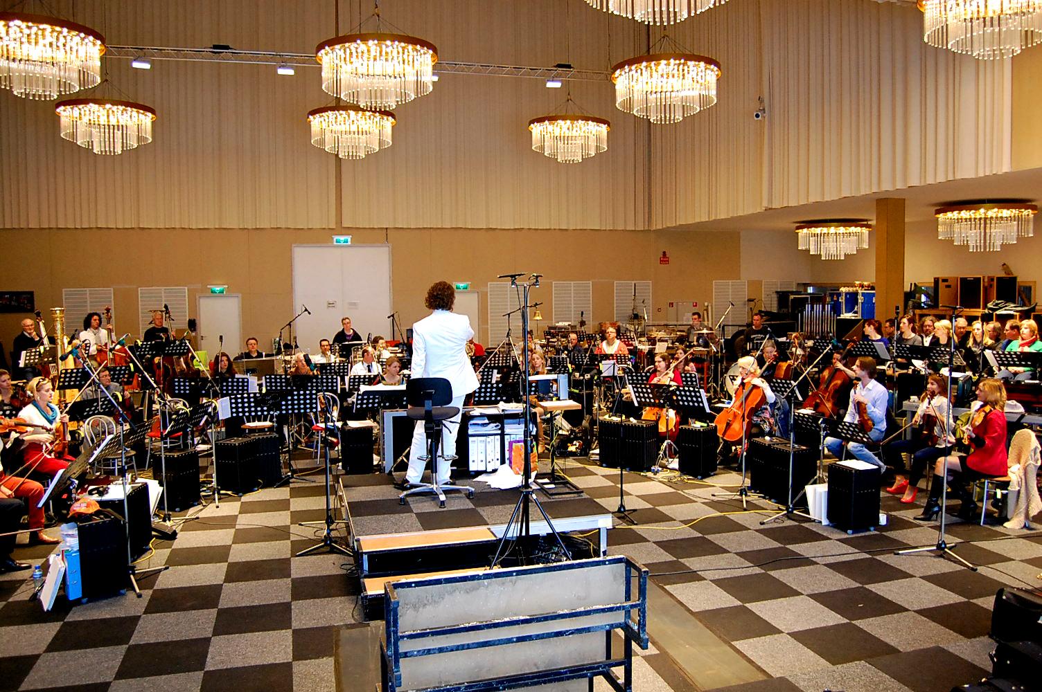 Repetitie André Rieu voor kroningsconcert