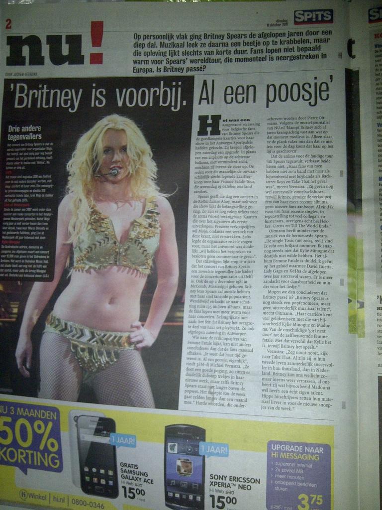 Artikel Britney Spears in Spits