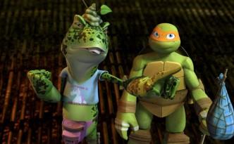 Napoleon Bonafrog & Michelangelo (afbeelding: Nickelodeon)